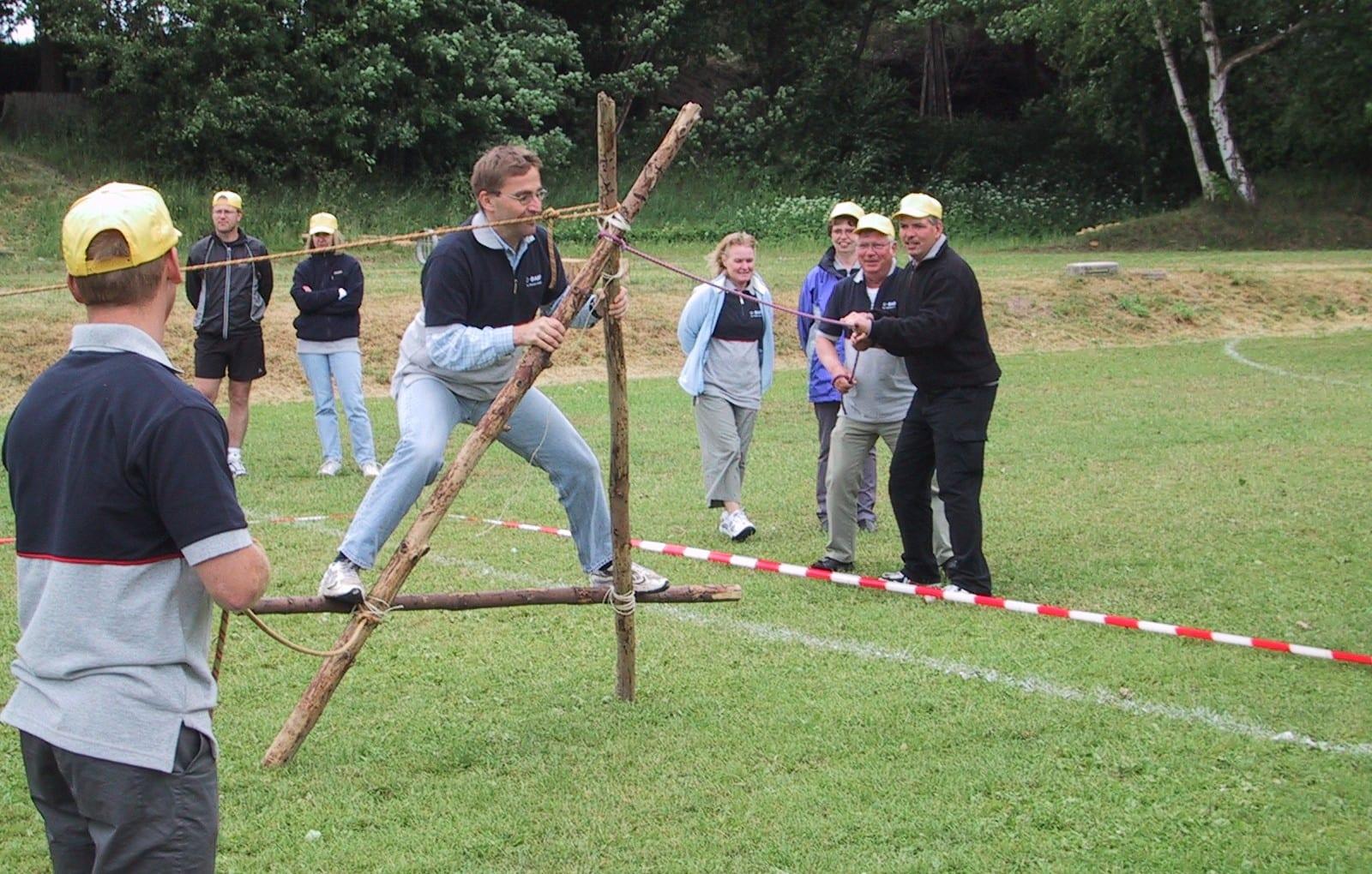 Teambuilding med øvelser på land på roskilde havn