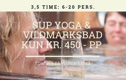 SUP yoga og vildmarksbad pakketilbud