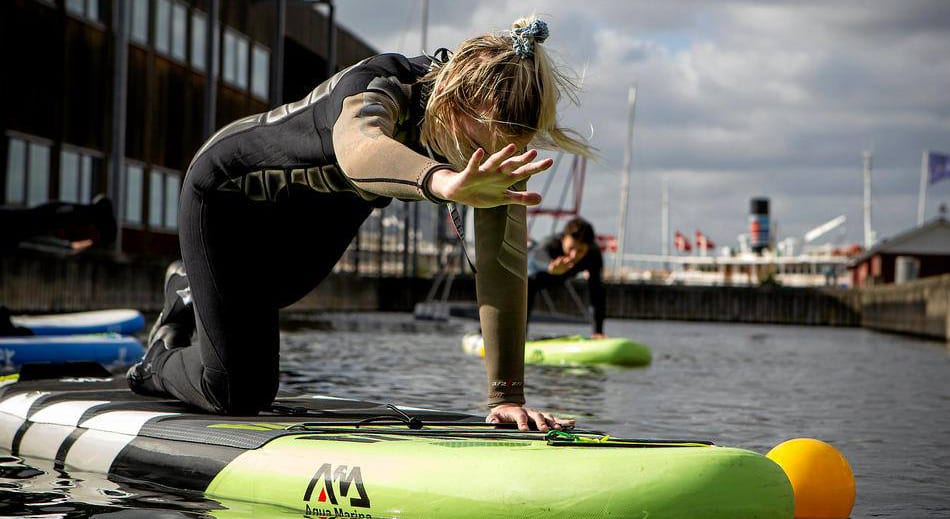 SUP yoga polterabend i Roskilde