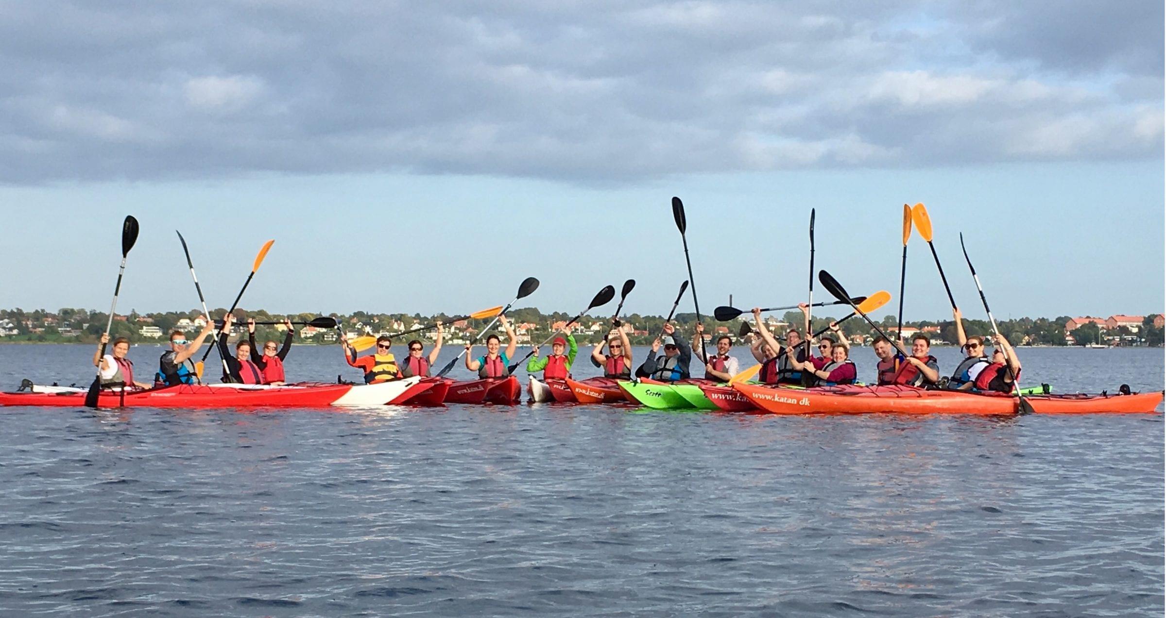 kajaktur på Roskilde fjord til polterabend