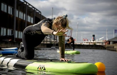 SUP Yoga polterabend roskilde