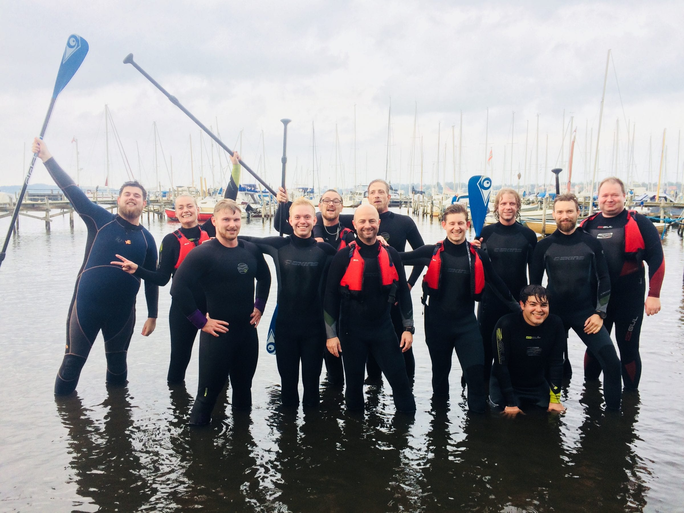 SUP outdoor teambuilding i Roskilde